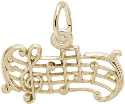 Rembrandt Music Staff Charm - Metal - 14K Yellow Gold