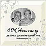 60th Anniversary Photo Frame with Easel Back