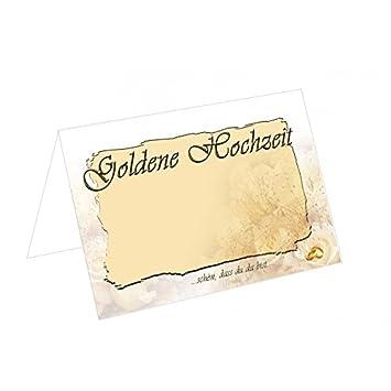 15 Tischkarten Tkh05 Goldene Hochzeit 300g