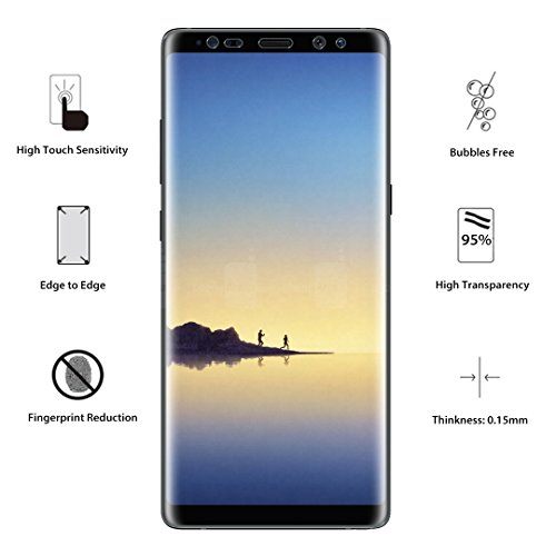 [3 PACK] Samsung Galaxy Note 8 Screen Protector (Case Friendly), LK [Full Coverage] PET Soft Flexible TPU film with Lifetime Replacement Warranty