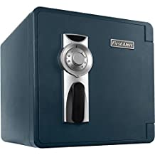 FIRST ALERT FATS2092FBD, 1.31-Cubic-Feet Waterproof Fire Safe with Combination Lock and Ready-Seal Bolt Down