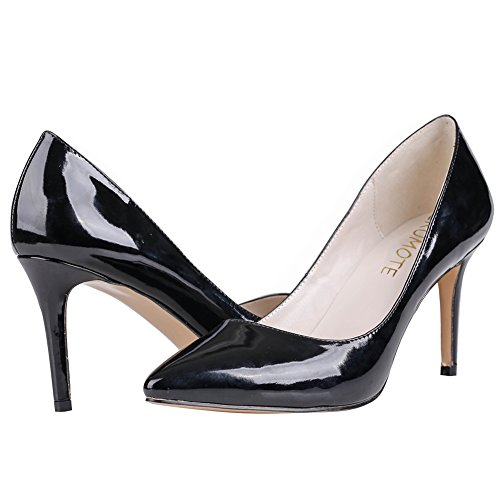 MERUMOTE - Zapatos de tacón fino Mujer Negro - Schwarz-Lackleder