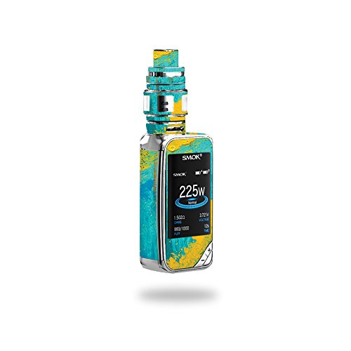 MightySkins Skin Compatible with SMOK X-Priv 225W - Acrylic Blue | Protective, Durable, and Unique Vinyl Decal wrap Cover | Easy to Apply, Remove, and Change Styles | Made in The USA