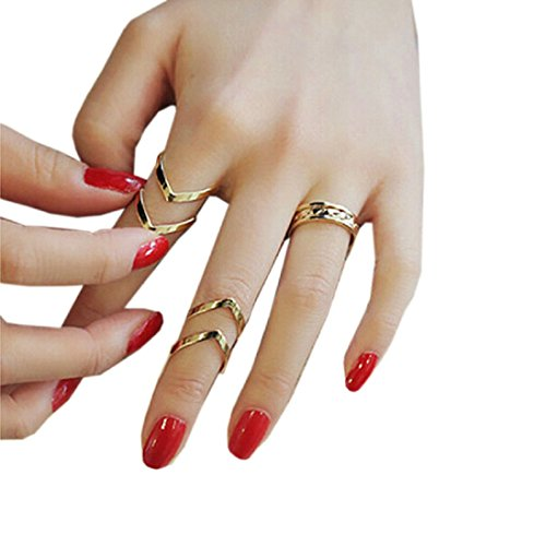 Meily 3pcs / set Geometry Stapel Above Knuckle-Nagel-Ring