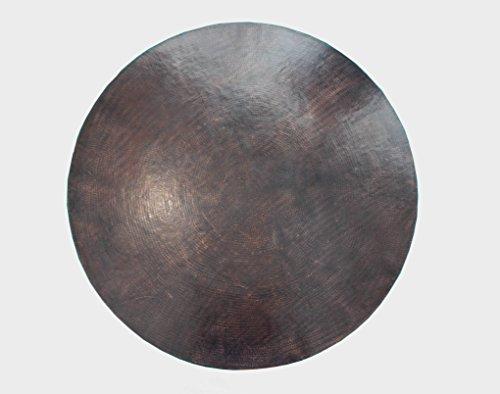 COLOR Y TRADICIÓN Mexican Round Copper Table Top Hand Hammered Rio Grande Patina 54 Review
