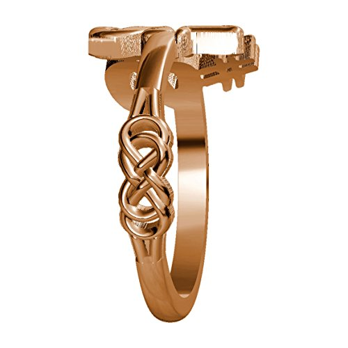Infinity Knot Ring in 18k Rose Gold - size 11 by Sziro Infinity Rings (Image #1)