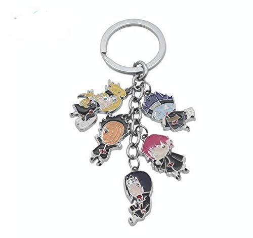 2017 Anime Cartoon Anime Naruto Kakashi Gaara Keychain Charm Cell Phone Strap Accessories Metal Alloy Keychain