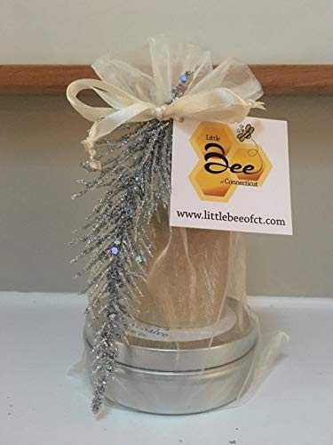 Little Bee of CT Gift Tower (Unflavored Lip Balm, Votive Candle, Unscented Body Salve) - A Martha Stewart American Made Maker