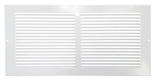 "Hart & Cooley 650 Series 12"" x 8"" White Flat Wall Return Air Grille #043118 (Fits a 12""W x8""H Hole)"
