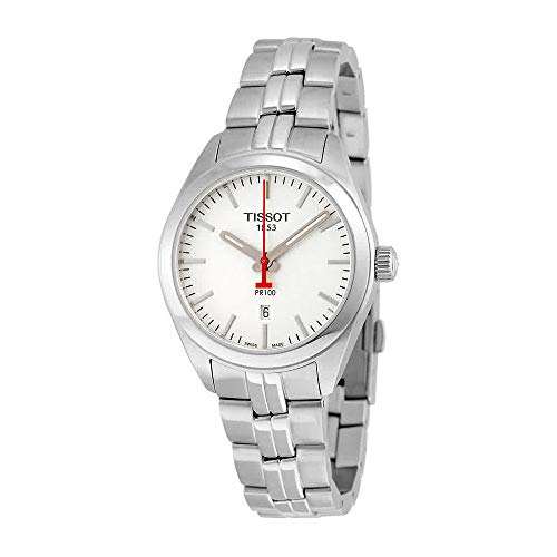 Tissot PR 100 NBA Silver Dial Stainless Steel Quartz Ladies Watch T1012101103100
