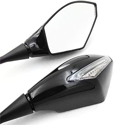 HTTMT For 2003-2012 Honda Cbr 600Rr 2004-2007 Cbr1000Rr Gloss Bkc Turn Signal Mirrors P//N: MT348-GBK+CL
