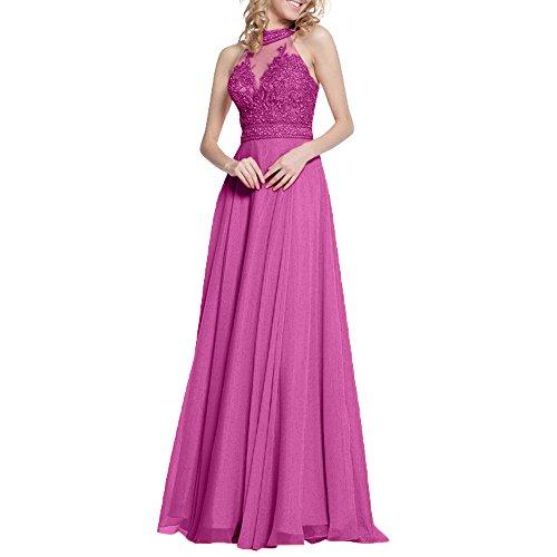 Abendkleider Herrlich Lang Durchsichtig Orange abschlussball Damen Ballkleider Partykleider Perlen Charmant Pink Xq6PHx5C