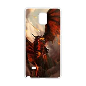 Deathwing Game Samsung Galaxy Note 4 Cell Phone Case White y03-785590