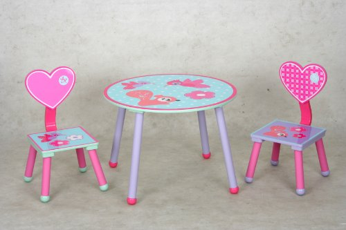 eHemco Kids Table and Chair Set - Heart Theme by eHemco (Image #4)'
