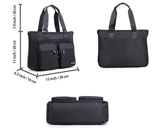 Crest Design Water Repellent Nylon Shoulder Bag Handbag Tablet Laptop Tote as to
