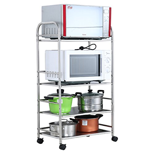 Kitchen Storage Stainless Steel Four Layers Floor-Standing Microwave Rack/Oven Storage Shelf/Pot rack/55cm
