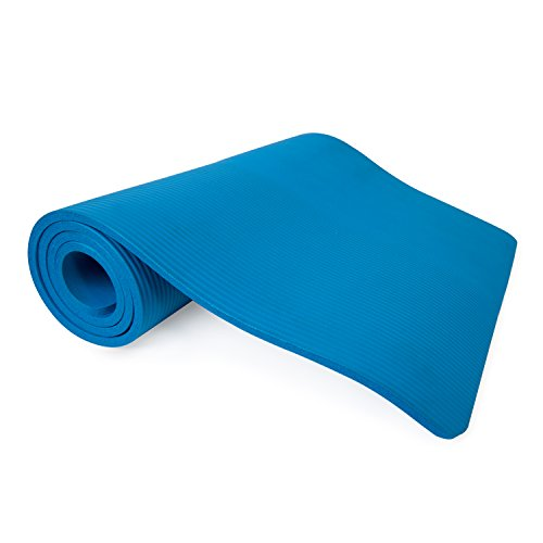 Tone Fitness Blue Extra Thick High Density Exercise / Yoga Mat, with...