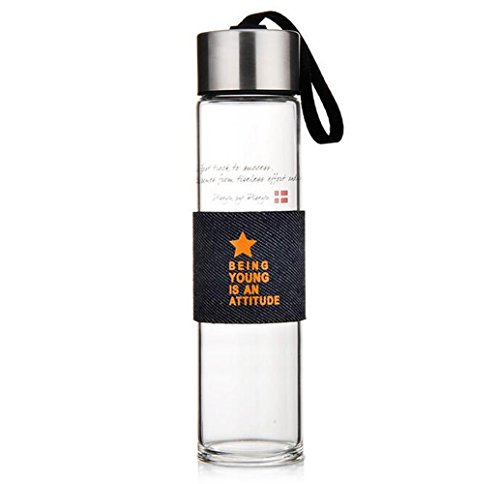 RTLMKB Coffee Mug ,Suitable for,families, restaurants.Heat-resistant glass portable cover creative water cup sports car water bottle, commemorative models, 450ML