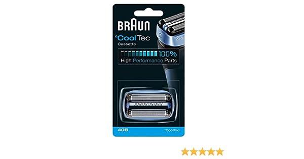 Braun CoolTech 40B - replacement foil and cutter - blue by Braun ...