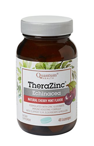 Quantum Health Thera Zinc Echinacea Lozenge Bottle 48 Count (Pack of 4)
