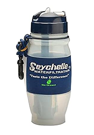 Seychelle 1-10403-28-HI-FC-S Water Bottle with Filtration System, Portable Filter Removes Radiation, Nuclear Contaminants and More, 28 oz.