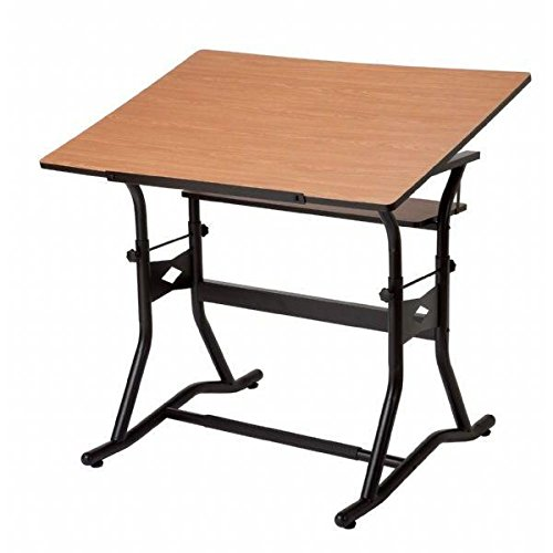 Alvin CM50-3-WBR Drafting Art Table Black & Cherry (CM50-3-WBR) by Alvin