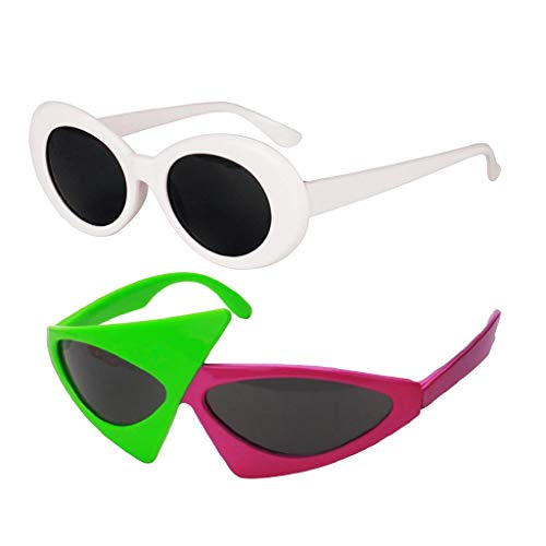 Fenteer 2/set Adults' Novelty Sunglasses & Vintage Clout Goggles Glasses -