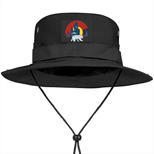 Ventilated Mesh Boonie Cap Summer Packable Bucket Hats Safari Fishing Hat