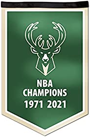 NBA Milwaukee Bucks 2021 Basketball Champions Victory Banner, 12 x 18-inches