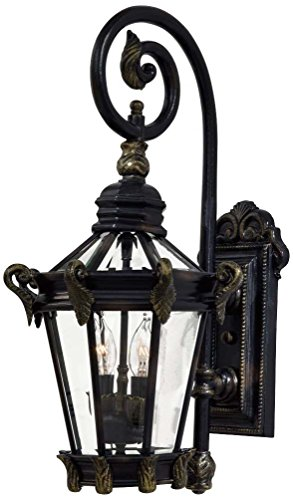Minka Lavery 8931-95 2 Light Outdoor Wall Mount, Heritage with Gold Highlights Finish