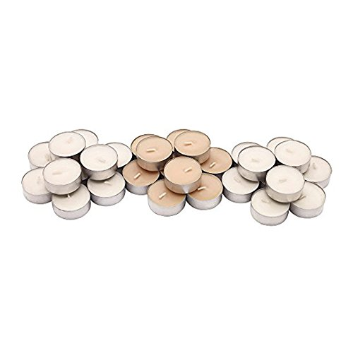 (IKEA Sinnlig Scented Tealight, Scent of Sweet Vanilla, Natural Color - 30 Pack)
