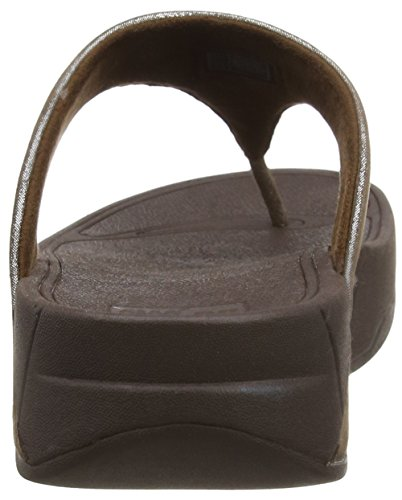 FitFlop Lulu Shimmersuede - Sandalias para mujer Marrón (Bronze 012)
