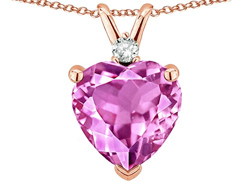 Pink Sapphire Rose Charm - 3