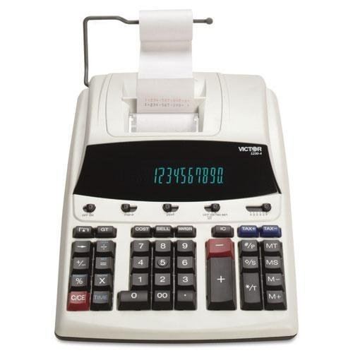 Victor - 1230-4 Fluorescent Display Printing Calculator Black/Red Print 3 Lines/Sec ''Product Category: Office Machines/Calculators & Counters'' by Victor