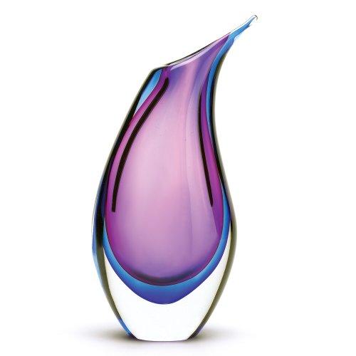 Koehler 38377 15.75 Inch Modern Duo Tone Glass Vase (Two Tone Glass Ornament)
