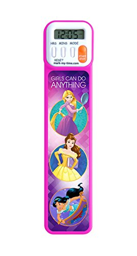 Mark-My-Time 3D Disney Princesses Girls Can Do Anything Digital Bookmark and Reading Timer - Rapunzel, Belle, Jasmine]()