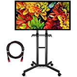 Suptek Mobile TV Cart Rolling TV Stand Mount with Wheels and Shelf for 32-60 inch LCD, LED, Plasma, Flat Screen (ML5073-3)