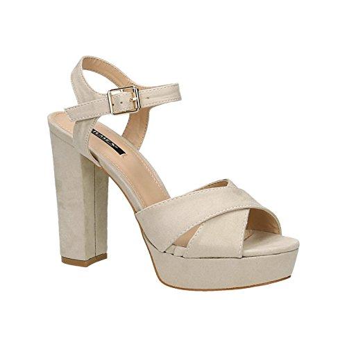 King 2 peep Beige Of Escarpins toe Shoes femme npn6Far