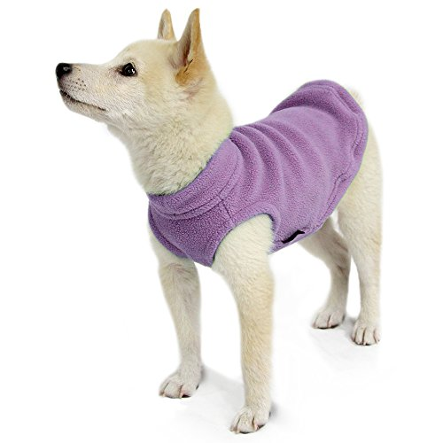Picture of Gooby - Stretch Fleece Vest, Pullover Fleece Vest Jacket Sweater for Dogs, Lavender, Small