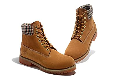 Timberland Mens 6-Inch Premium Waterproof Boots White Yellow Black Red  Checker 15d896296
