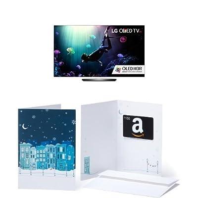 LG Electronics OLED65B6P Flat 65-Inch 4K OLED TV and $150 Amazon.com Gift Card