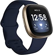 Fitbit Versa 3 Health & Fitness Smartwatch with GPS, 24/7 Heart Rate, Alexa Built-in, 6+ Days Bat