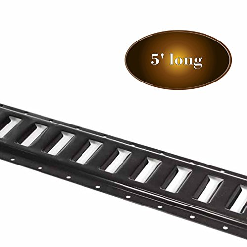 Eight 5' E Track Tie-Down Rail, Powder-Coated Steel ETrack TieDowns | 5' Horizontal E-Tracks, Pack of 6 Bolt-On Tie Down Rails for Cargo on Pickups, Trucks, Trailers, Vans