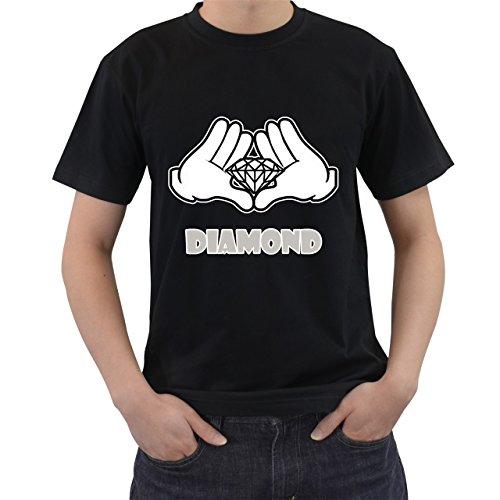 [Cartoon Hands Diamond Most Dope T-Shirt Short Sleeve By Saink Black Size L] (Afro Samurai Bear Costume)