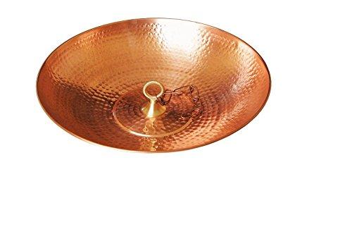 U-nitt - tazón de cobre puro para cadena de lluvia o tina de pájaros de 40 cm con lazo y cadena: #976