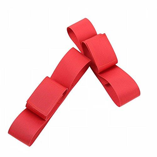 Espectáculo de Club Nocturno Probature Tie Fardos, Pasta de Pierna,Pake 1,Rojo Pake 2