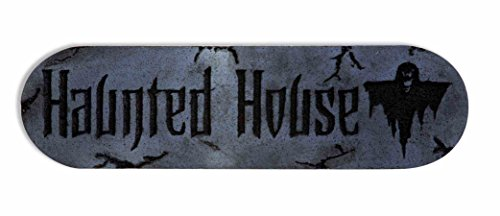 "Forum Novelties Ghouls Graveyard Haunted House Foam Plaque, 18"", Gray"