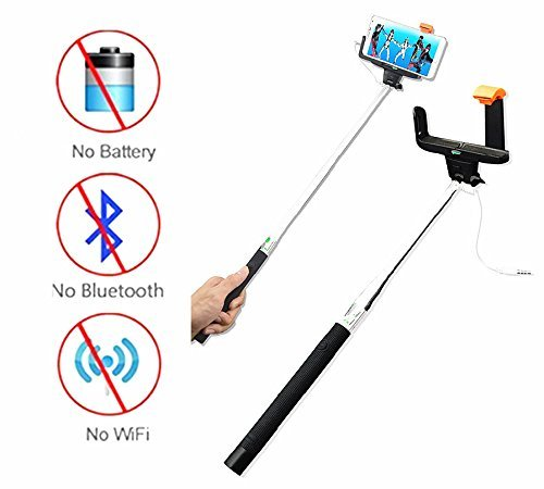 UPC 701851262264, Top One Tech 2015 New Release Extendable Wireless Cable Control Self-portrait monopod Selfie [No Battery + No Bluetooth + No App + No Wifi] monopod Selfie Handheld Stick Pole with Mount Holder Specially Designed for Iphone and Android System Over 4.2 /IOS 5.0 Iphone 6 6plus 5s 5c 5 4s 4 Samsung Galaxy S5 ,S4, S2, Note 2, Note 3 and Other Smartphone to Take Photos or Video, (Not Compatible for Galaxy S3) (Z07-7- Blue)
