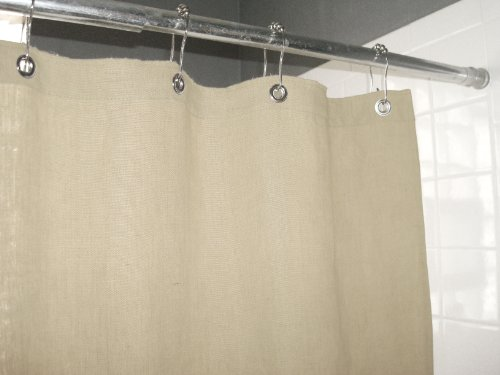 Bean Products Hemp Shower Curtain Size: 70'' x 74'' by Bean Products (Image #2)
