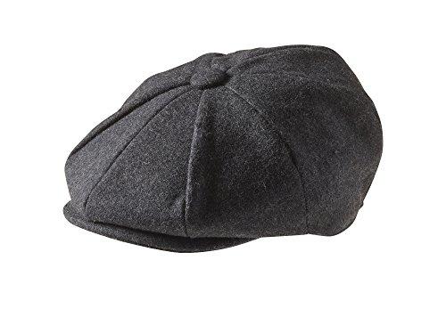 Peaky Blinders Men's 8 Piece 'Newsboy' Style Flat Cap Wool (Medium (57cm, (Mens Gatsby Clothes)